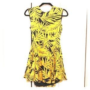 H&M Leaf Print Dress